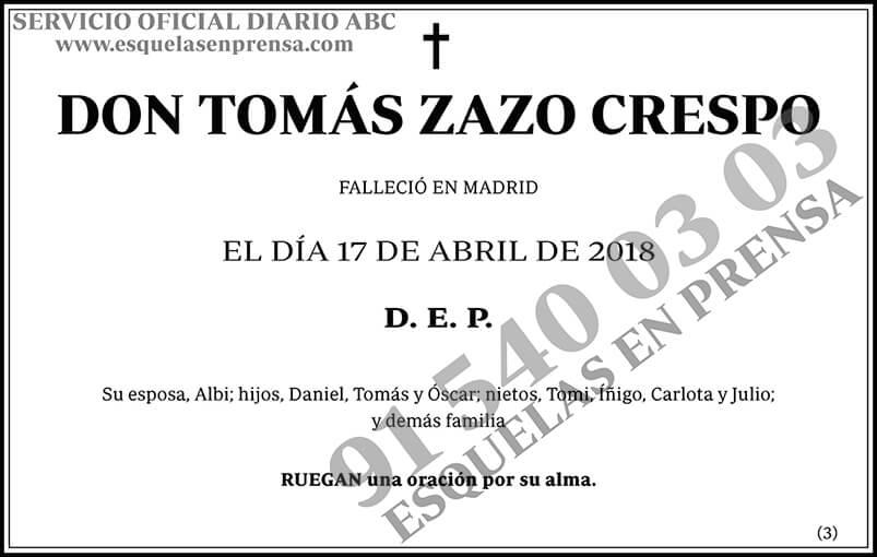 Tomás Zazo Crespo